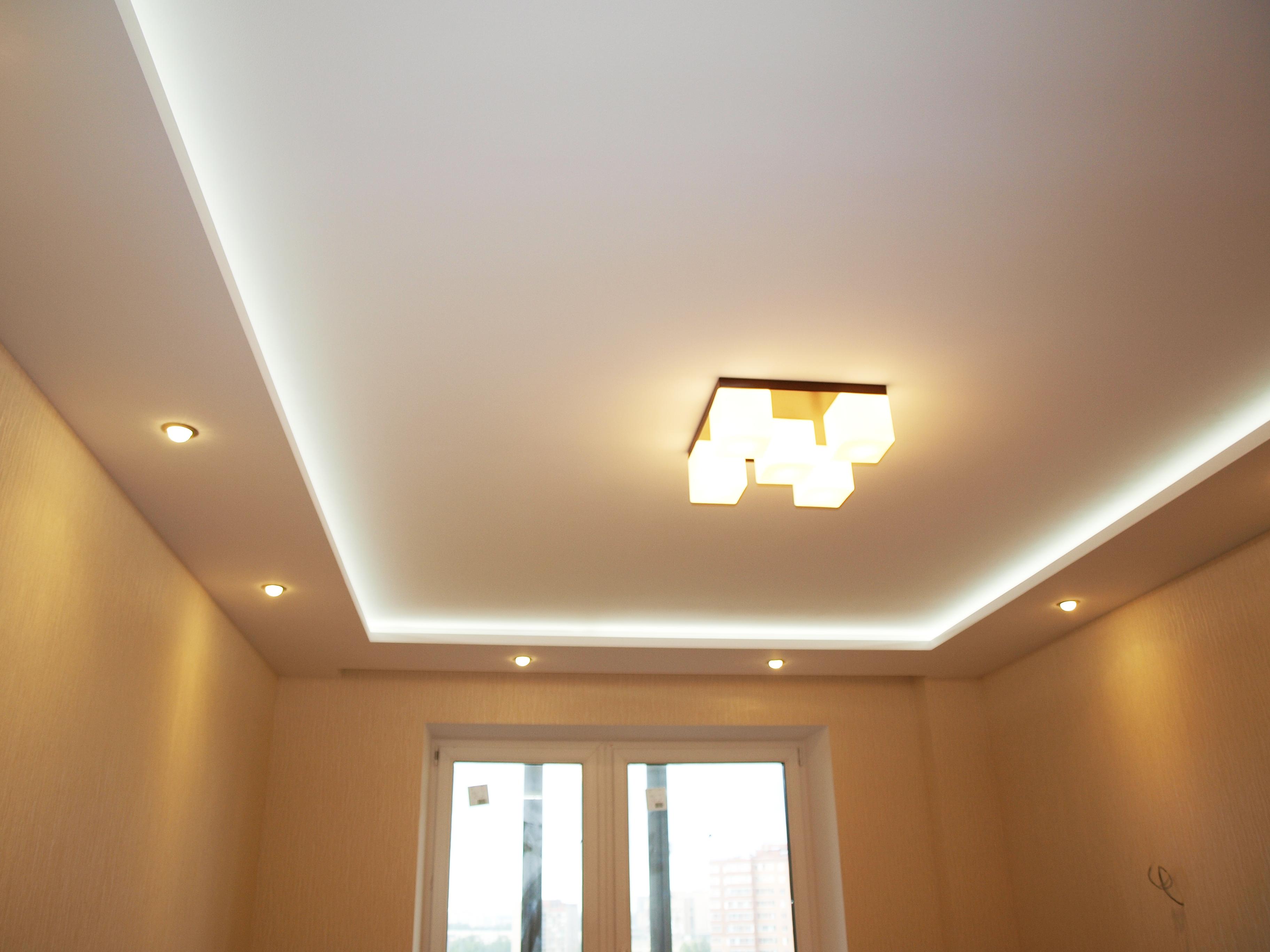 2 уровневый потолок из гипсокартона своими руками фото 142