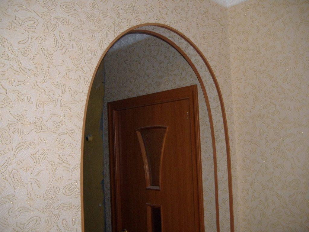 Оформление арки в квартире обоями своими руками 69
