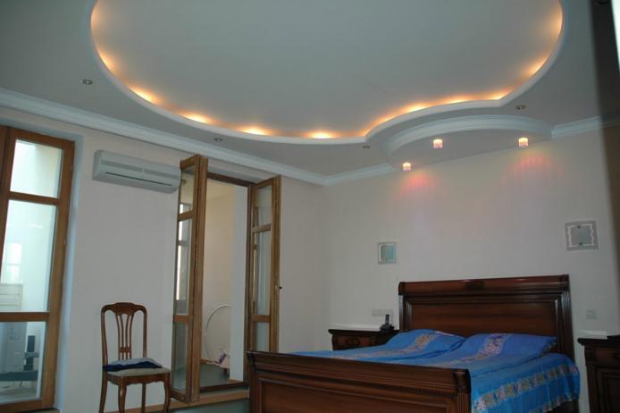 Зональный трехуровневый потолок
