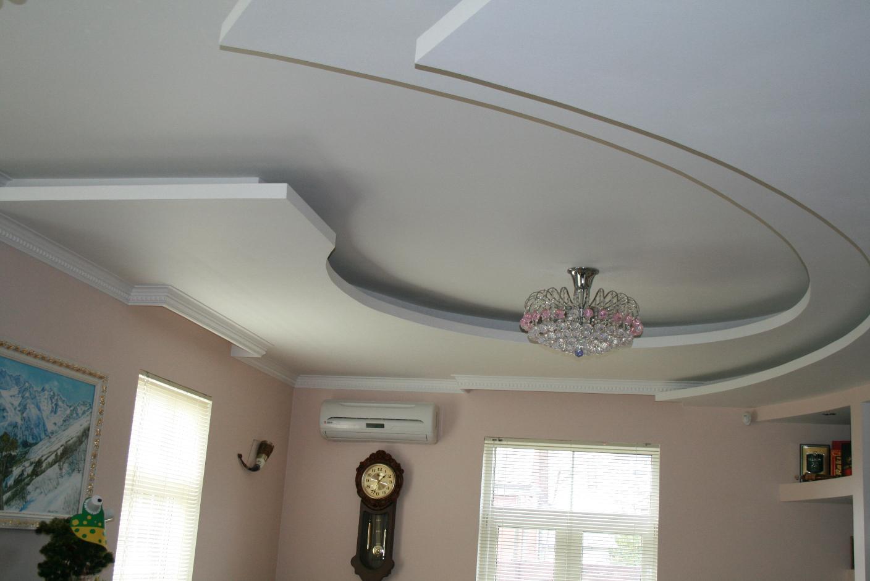 Потолок из гипсокартона многоярусный