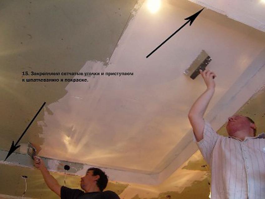 Фото натяжные потолки своими руками 80