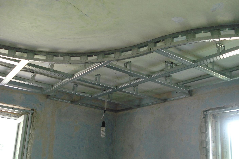Как сделать двухуровневые потолки из гипсокартона и натяжного 684