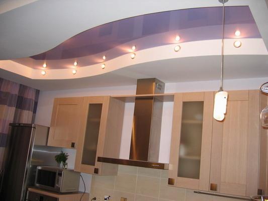 Ремонт кухни видео потолки