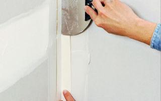 Как выполняется шпаклевка углов гипсокартона: инструкция