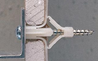 Крепеж предметов на гипсокартонную стену