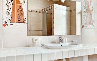 Cтолешница из гипсокартона в ванную