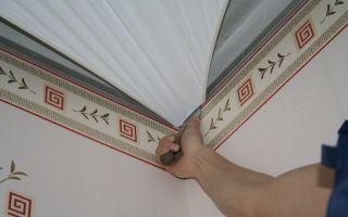 Крепление натяжного потолка к стене из гипсокартона