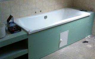 Короб под ванну из гипсокартона