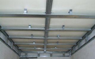 Обрешетка под гипсокартон на потолок