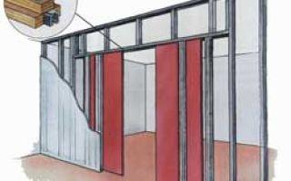 Раздвижная дверь-купе в перегородке из ГКЛ