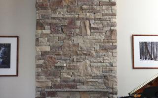 Укладка декоративного камня на гипсокартон