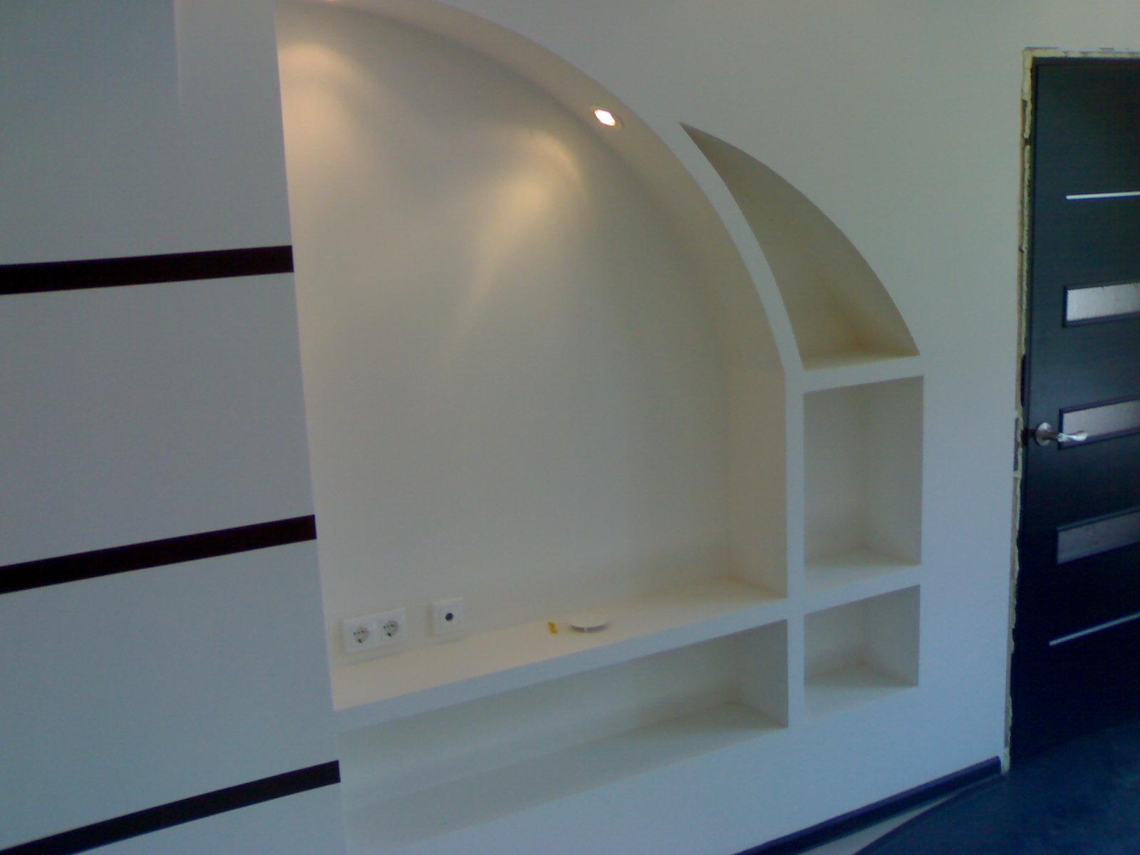 стены из гипсокартона. фото