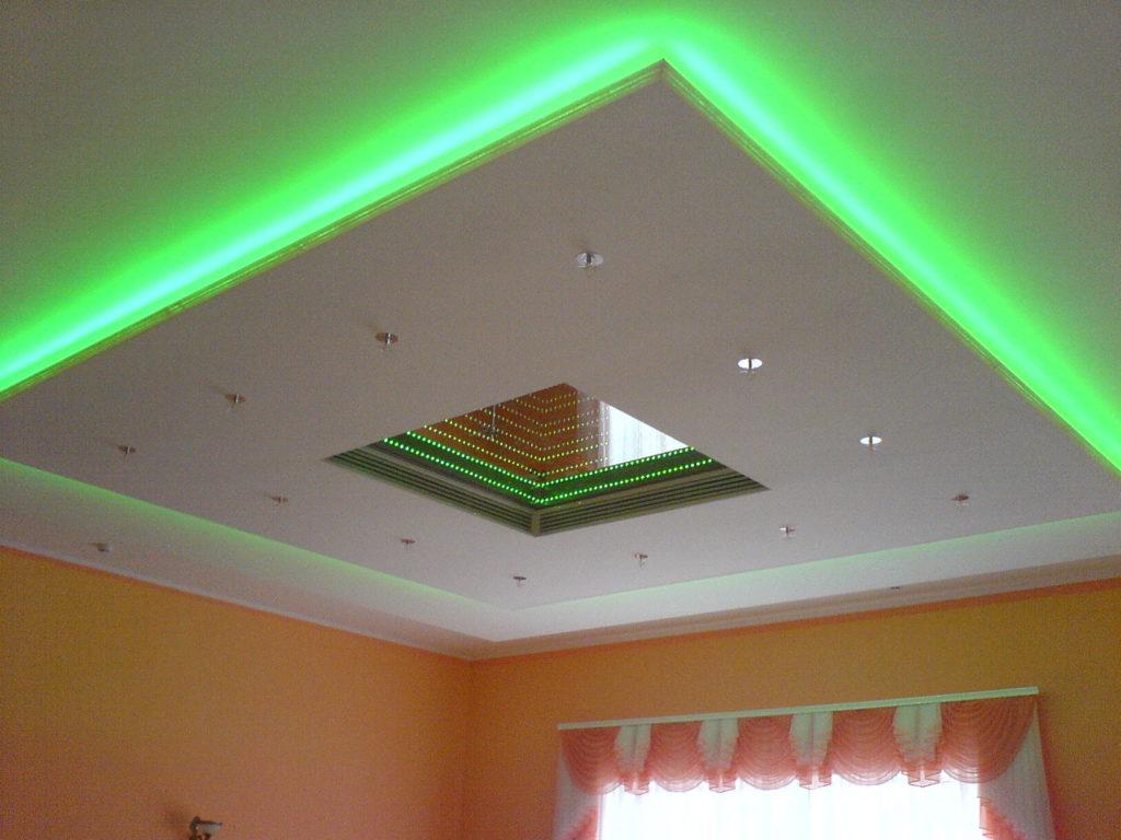 Короб для подсветки потолка своими руками 604
