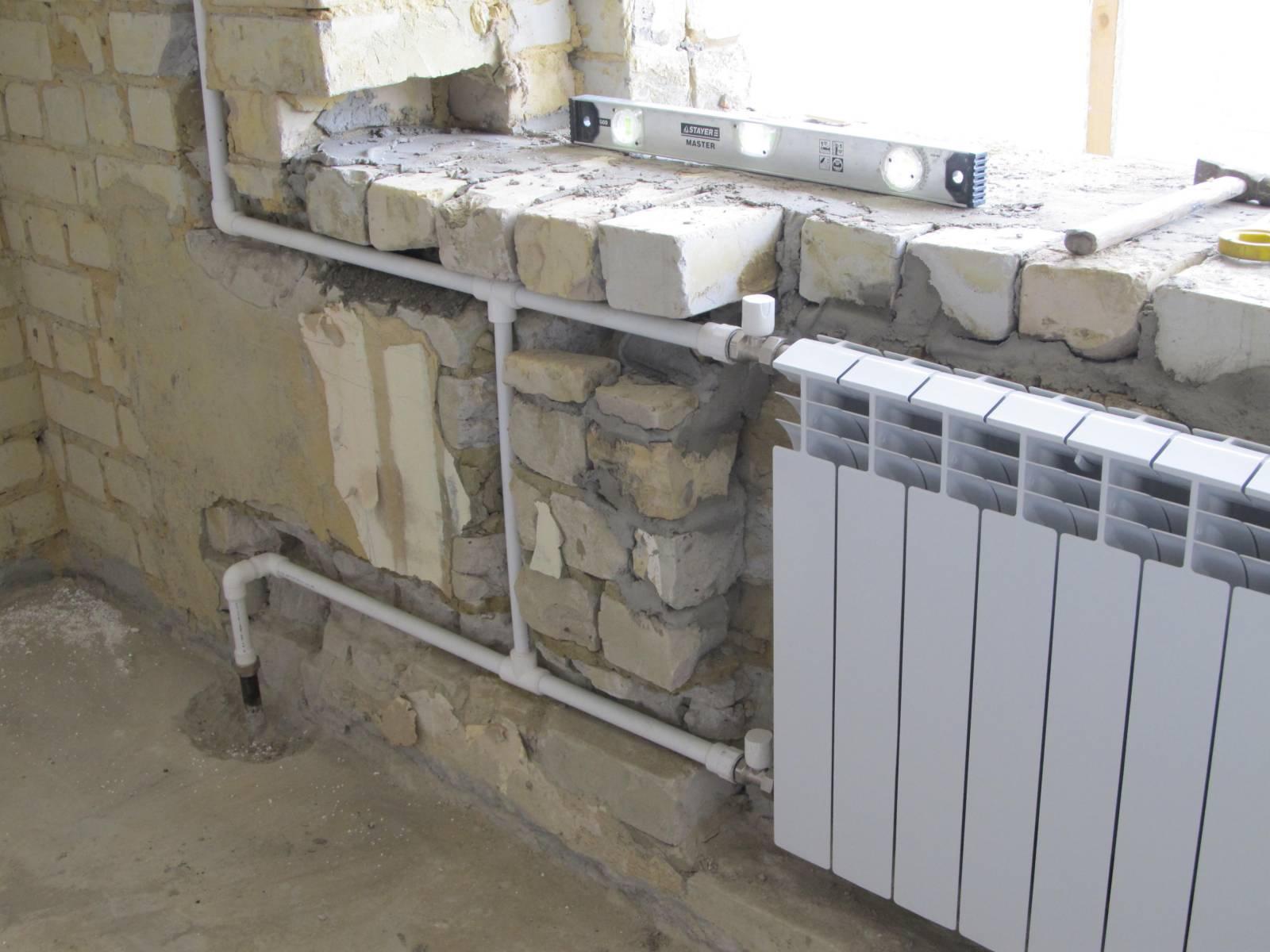 Замена батарей отопления, установка радиаторов отопления, за.