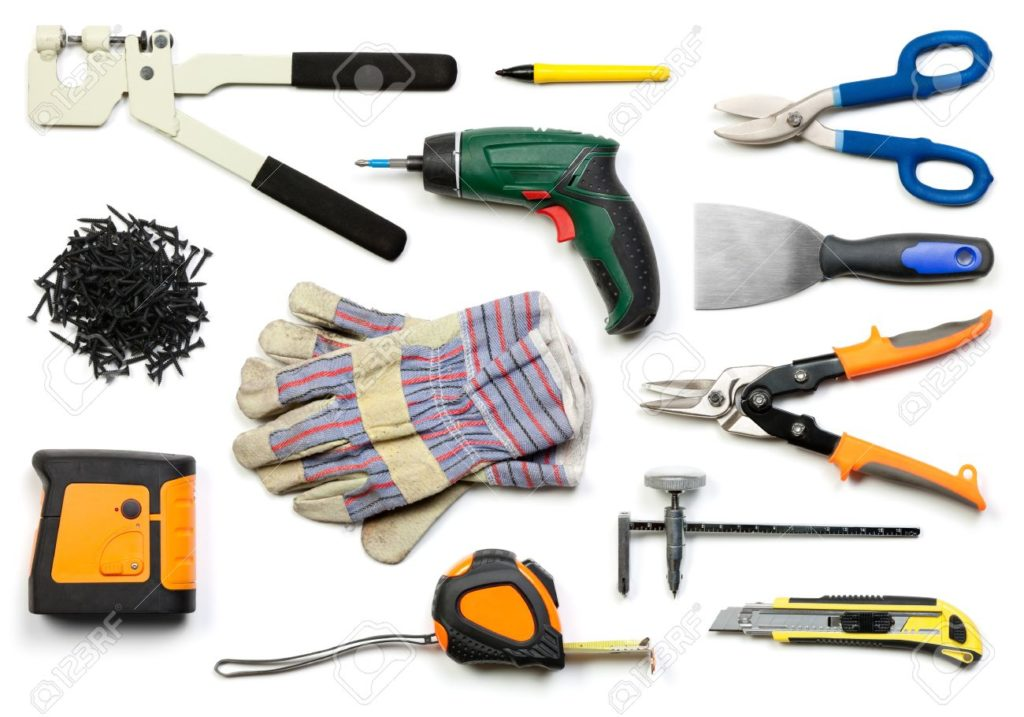 9357230-plasterboard-tools-set-with-punch-lock-crimper-marker-pen-tin-stock-photo